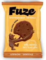 Протеиновое печенье Fuze Апельсин-шоколад (40г) -