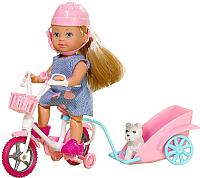 Кукла с аксессуарами Simba Эви на велосипеде с собачкой / 105730783 -