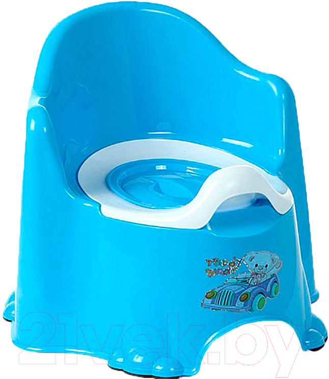 Купить Детский горшок Dunya, Комфорт (голубой), Турция, пластик