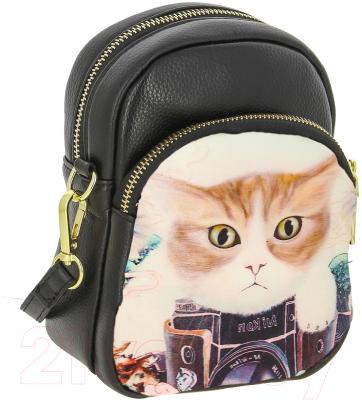 a8615cf984bb Kenka ZW 53-4 (черный/кот) Детская сумка купить в Минске