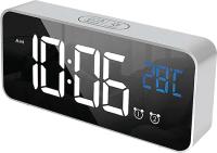 Настольные часы ArtStyle CL-S80WBL (серебристый/белый/синий) -