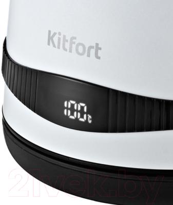 Электрочайник Kitfort KT-6121-2 (белый)