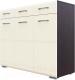 Комод SV-мебель №1 3 створки (дуб венге/белый матовый холст) -
