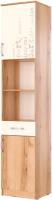 Шкаф-пенал SV-мебель Рио 1 Д фотопечать (дуб делано/белый) -