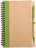 Блокнот Mid Ocean Brands Sonora Plus / IT3775-48 (коричневый/светло-зеленый) -