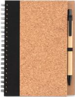 Блокнот Mid Ocean Brands Pluscork / MO9859-03 (коричневый/черный) -