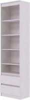 Стеллаж SV-мебель Бриз 1 Д открытый 2 ящика (ясень анкор светлый) -