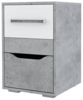 Комод SV-мебель Грей Д с ящиками (цемент светлый/белый) -