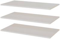 Комплект полок вкладных SV-мебель Соло Д для шкафа двухстворчатого универсального (белый) -