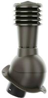 Выход вентиляционный на крышу Krono-Plast KBN H500мм D125мм (темно-коричневый) -
