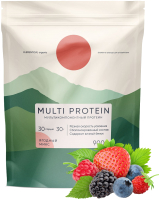 Протеин Elementica Organic Multi Protein / EM004 (900гр, ягодный микс) -