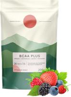 Аминокислоты Elementica Organic BCAA Plus / EBP002 (200г, ягодный микс) -