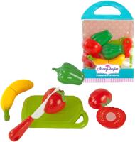 Набор игрушечных продуктов Mary Poppins Учимся готовить. Овощи и фрукты / 453044 -