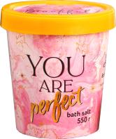 Соль для ванны Beauty Fox Stay Beautiful аромат Ваниль (550г) -