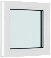 Окно ПВХ Brusbox Глухое 2 стекла (950x950x60) -