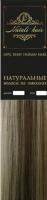 Прядь волос на заколках Flario 17x55 тон 8/60 (микс) -