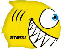 Шапочка для плавания Atemi FC201 (рыбка/желтый) -