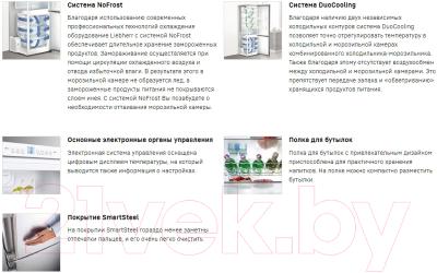 Холодильник с морозильником Liebherr CNPef 4813