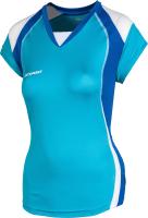 Майка волейбольная 2K Sport Energy / 140042 (XS, небесно-голубой/синий/белый) -