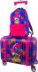 Детский чемодан DeLune Lune-002 + рюкзак (фиолетовый) -