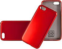 Чехол-накладка Case Deep Matte v.2 для Y5 Prime (2018)/Honor 7A  (красный матовый) -