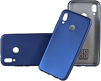 Чехол-накладка Case Deep Matte для P20 Lite (синий матовый) -