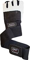 Перчатки для пауэрлифтинга QNT BG30 Long Strap / I00001682 (M, черный) -