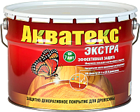 Защитно-декоративный состав Акватекс Экстра (10л, орегон) -