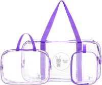 Комплект сумок в роддом Roxy-Kids RKB-003 (3шт, фиолетовый) -