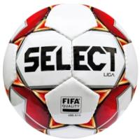 Футбольный мяч Select Liga Fifa 5 (размер 5, белый/красный) -