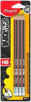 Набор простых карандашей Maped Black Peps / 851731 (6шт) -