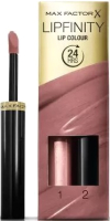 Набор декоративной косметики Max Factor Помада Lipfinity Lip Colour+Блеск Moisturising Top Coat тон 350 -
