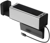 Органайзер автомобильный Baseus Deluxe Metal Armrest Console CRCWH-A0S (серебристый) -