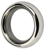 Эрекционное кольцо LoveToy Stainless Steel Metal Silver Cockring / LV1672  -
