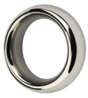 Эрекционное кольцо LoveToy Stainless Steel Metal Silver Cockring / LV1671 -