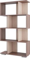 Стеллаж SV-мебель №2 Д (ясень шимо темный/ясень шимо светлый) -