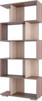 Стеллаж SV-мебель №3 Д (ясень шимо темный/ясень шимо светлый) -
