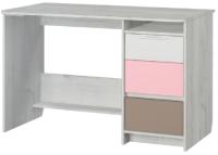 Письменный стол Аквилон Зефир №17.2 120 (дуб эльза/розовый) -
