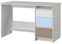 Письменный стол Аквилон Зефир №17.2 120 (дуб эльза/голубой) -