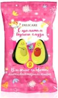 Влажные салфетки детские Delicare Авокадо Анибактериальные с ароматом вкусного смузи (15шт) -