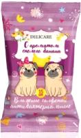 Влажные салфетки детские Delicare Собаки Анибактериальные с ароматом спелого банана (15шт) -