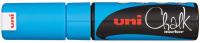Маркер меловой UNI Mitsubishi Pencil Chalk на меловой основе 8мм / PWE-8K L.BLUE (голубой) -