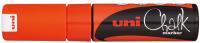 Маркер меловой UNI Mitsubishi Pencil Chalk на меловой основе 8мм / PWE-8K METALLIC RED (красный металлик) -