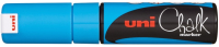 Маркер меловой UNI Mitsubishi Pencil Chalk на меловой основе 8мм / PWE-8K METALLIC BLUE (синий металлик) -