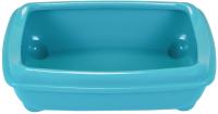 Туалет-лоток ZooM Четвертый с рамкой глубокий / 2904бирюз -