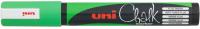 Маркер меловой UNI Mitsubishi Pencil На меловой основе 8мм / PWE-8K F.GREEN (флуоресцетный зеленый) -