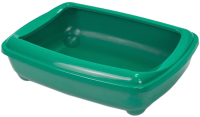 Туалет-лоток ZooM Четвертый с рамкой глубокий / 2904изум -