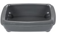 Туалет-лоток ZooM Шестой с рамкой глубокий / 2906сер -