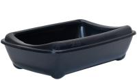 Туалет-лоток ZooM Четвертый с рамкой глубокий / 2904черн -