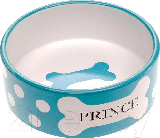 Купить Миска для животных Ferplast, Thea Medium Bowl (0.75л, голубой), Италия, белый, керамика